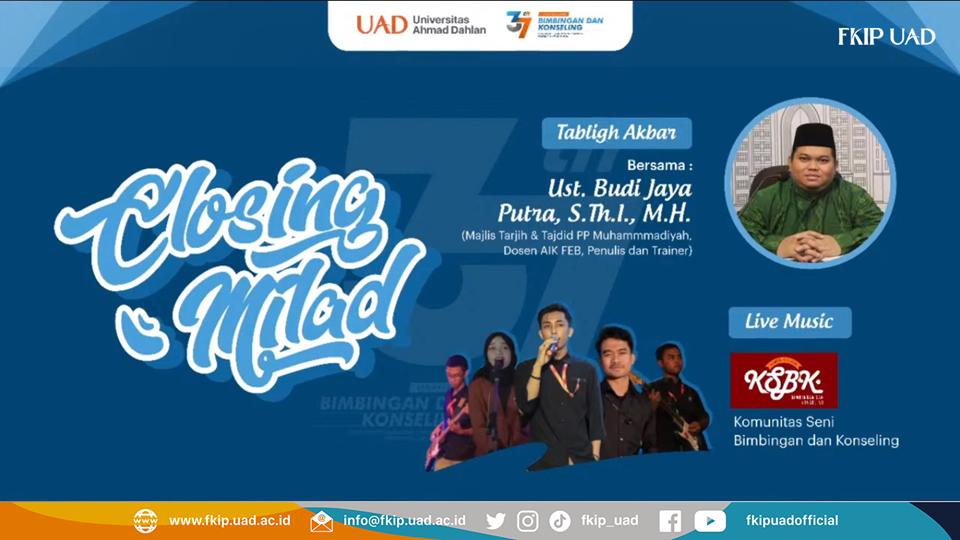 Closing Milad Prodi BK UAD