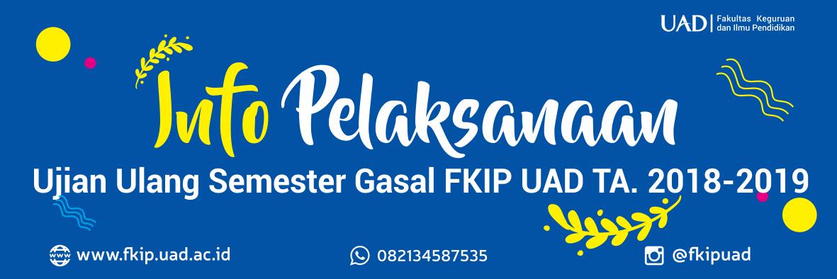 Info jadwal Ujian Ulang Semester Tahun Akademik 2018-2019