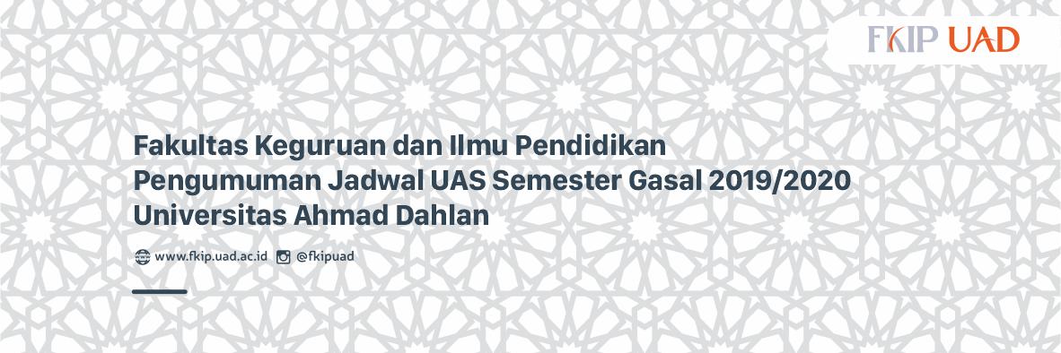 Jadwal UAS Semester Gasal 2019-2020