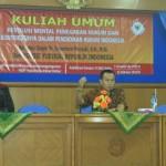 Dr. Suparman Marzuki, SH., M.Si. (Ketua KY RI) MEMBEMBERIKAN KULIAH UMUM KEPADA MAHASISWA PRODI PPKn FKIP UAD TENTANG REVOLUSI MENTAL DALAM PENEGAKAN HUKUM
