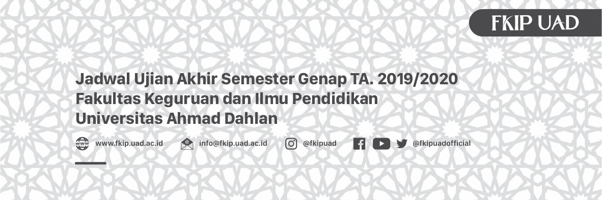Ujian Akhir Semester Genap 2019-2020